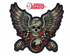 LETHAL THREAT SKULL WITH WINGS PATCH 11 INCHES WIDE VEST BACK PATCH