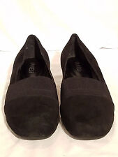 "Vaneli Size 8M Black Suede Square Toe Wedge 1.5"" Heel ""Mirah"""