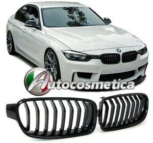 GRIGLIE GRIGLIA RADIATORE CALANDRA ANTERIORE NERA LUCIDA BMW Serie 3 F30 F31
