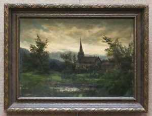 """Julian RIX (1850-1903) """"Oil Painting, signed"""