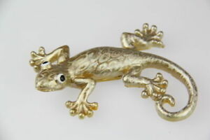 Gold Lizard With Glossy Laser Print