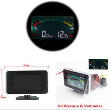 12V/24V Car Oil Pressure Gauge Digital LCD Engine Oil Pressure Meter & Voltmeter