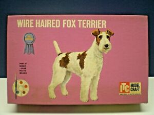 """Vintage 1960's ITC """" WIRE HAIRED FOX TERRIER """" Model Kit 3823-98 unbuilt in Box"""
