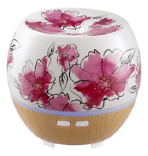 Homedics Ellia Awaken Ultrasonic Aroma White With Pink Flowers | NEW