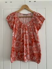 M&S Red Pattern Top Size 10