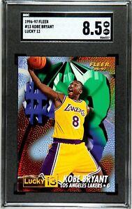 1996 Fleer Lucky 13 #13 Kobe Bryant Rookie SGC 8.5