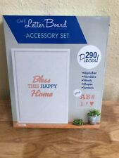 Leisure Arts Cafe Letter Board Accessory Set Coral & Blue Felt Board Letters Fs