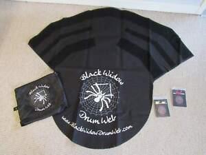 Black Widow Spider Web portable drum mat /rug