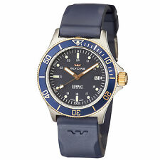 Glycine Men's 3863.38B6 D8 Combat Sub Automatic 42mm Blue Dial Blue Rubber Watch