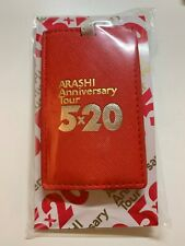 """Arashi Anniversary Tour """"5x20 and more"""" Official Concert Good-Luggage Tag (NEW)"""