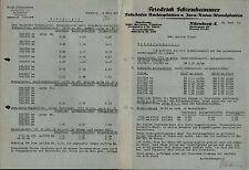 NÜRNBERG-A., Brief u. Preisliste 1932, Solnhofer Bodenplatten F. Schienhammer