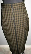 Viscose Plaids & Checks Straight, Pencil Hand-wash Only Skirts for Women