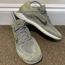 Nike Free RN Flyknit Ladies Womens Trainers Green Running UK Size 7
