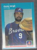 OZZIE VIRGIL 1987 Fleer #532 Braves Error Variation Oddball Magenta Ink Bleed