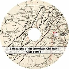 1914 Atlas for Campaigns of the American Civil War - Maps History Book on CD