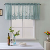 Woven Textured Valance for Bathroom Water Repellent Window Covering Europe