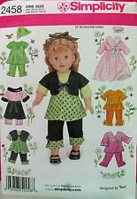 """New Pattern 2458 Doll Clothes Separates Dressy/Casual fit 18"""" American Girl"""