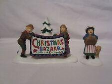 Dept 56 New England Village Christmas Bazaar Sign