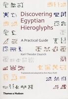 (Very Good)-Discovering Egyptian Hieroglyphs: A Practical Guide (Paperback)-Ann