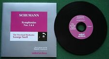 Schumann Symphonies 2 & 4 The Cleveland Orchestra George Szell CD
