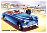 Austin A40 Deportes Vintage 1950s Publicidad Póster Retro Barcos Marina Inglés