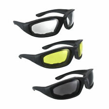 3PCS Motorcycle Riding Anti Wind Sand Glasses Fashion Eyewear Yellow Clear Smoke