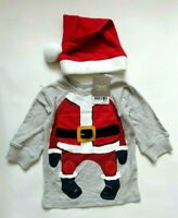 Next Christmas Top and Hat Size 3-6mths