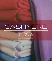 luxurious Cashmere Throws Blankets, Bigger Size