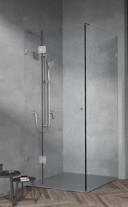 Custom Sizes Fully Frameless Shower Screen (Chrome Fittings)
