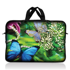 """15"""" 15.6"""" Laptop Notebook Sleeve Bag Case w Handle Butterfly Floral 15-SD02"""