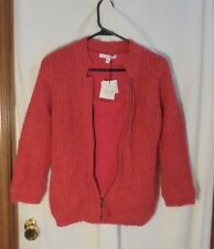CAbi Womens Sweater Size XS Zipper/Pull-over Lined Wool/Mohair Blend Pink