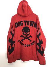 Vintage Dogtown Dog Town Reversible Knit Wear Hooded Jacket Skateboard Hardcore