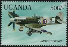 WWII Supermarine SPITFIRE / SEAFIRE Fighter Aircraft Stamp (1998 Uganda)