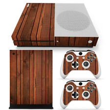 Xbox One S Slim Skin Wood brown Sticker Vinly Decal for Console &2 Controllers
