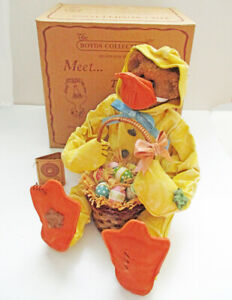 Boyd's Bears Quacker Crumpleton Bear in Easter Duck Costume