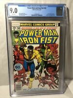 POWER MAN #50 CGC 9.0 White Pages 1978 MARVEL KEY 1ST IRON FIST TEAM UP Preorder