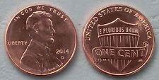 USA 1 cent Lincoln 2014 D unz.