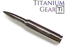 Titanium 50 Caliber Bullet 4 oz Ti Fine .999 Bullion Investment Bar .50 CAL BMG