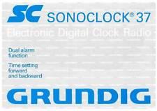 GRUNDIG SONOCLOCK 37 - INSTRUCTIONS USER OWNER'S MANUAL -DE EN FR IT NL DK ES PT