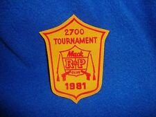 Vintage 1981 Mac Club Tournament Patch