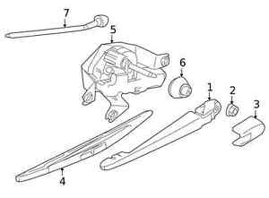Genuine Nissan  2009-2014 Wiper Arm 28781-1FC0A