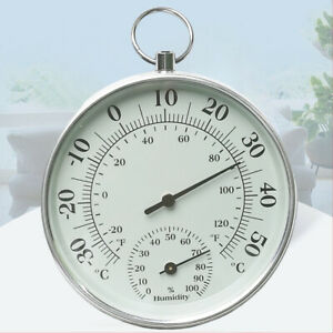 10cm Indoor Outdoor Thermometer Analog Temperature Humidity Meter Hygrometer