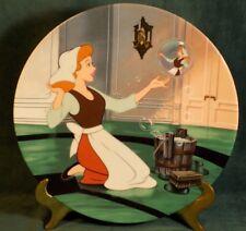 Oh Sing Sweet Nightingale Cinderella Plate series w/ Coa Walt Disney 5609A