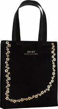 """MARC JACOBS DAISY BLACK TOTE 16"""" x 13"""" & LONG KATE SPADE FLOWER NECKLACE GOLD"""