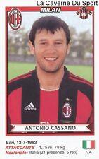 ANTONIO CASSANO ITALIA AC.MILAN RARE UPDATE STICKER CALCIATORI 2011 PANINI