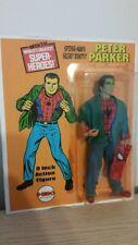 custom 8 inch MOC  PETER PARKER mego action figure  MARVEL COMICS