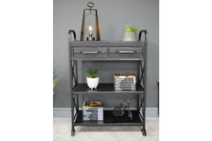 Industrial Metal Freestanding Shelving unit with Drawers