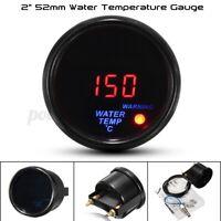 """Ø 52mm 20-150℃ Jauge Température d'eau Manomètre LED Affichage Capteur 1/8"""" Auto"""
