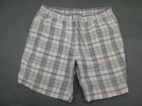 Tommy Hilfiger Size XL Mens Plaid Lined Swim Beach Trunks Shorts 590