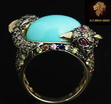 Levian Ring / 15.5 CT Diamond, Turquoise, Citrine, Amethyst, Ruby Sapphire / 14K